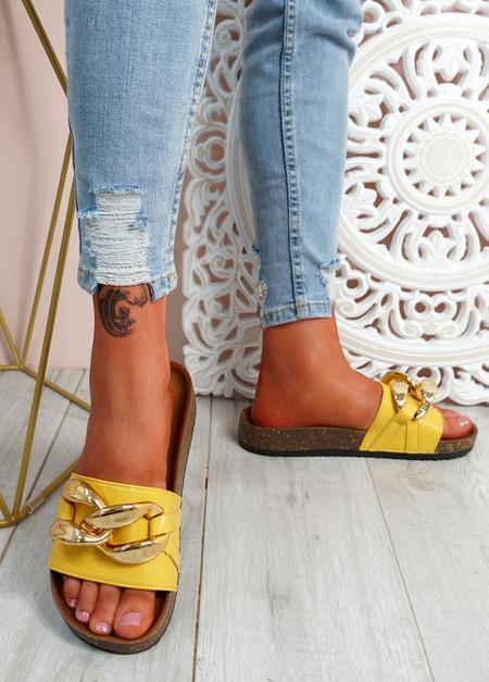 Ryo Yellow Flat Sandals