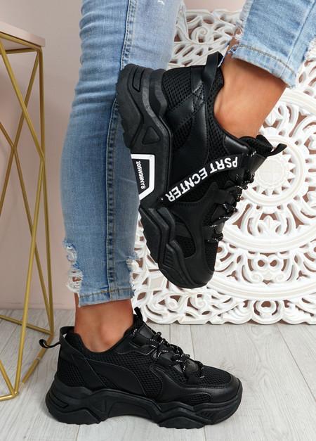 Nozzo Black Chunky Sneakers