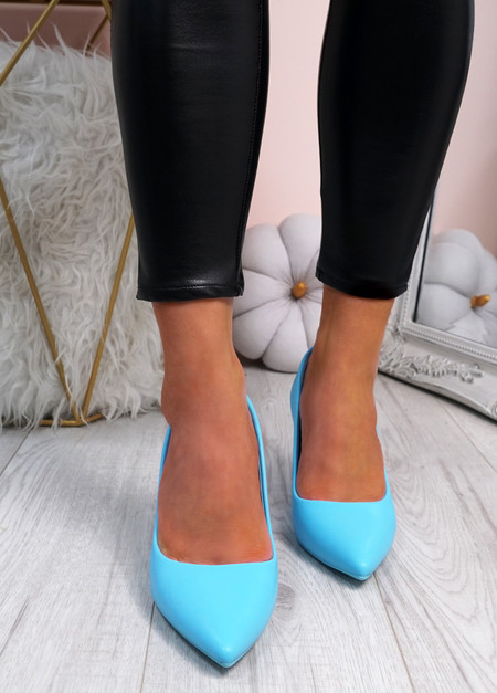 Melissa Blue Block Heel Pumps