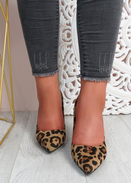 Essa Leopard Block Heel Pumps