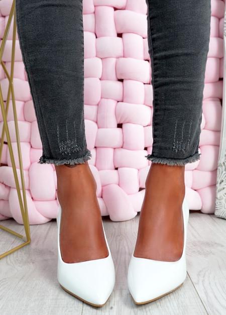 Isabella White Stiletto Pumps