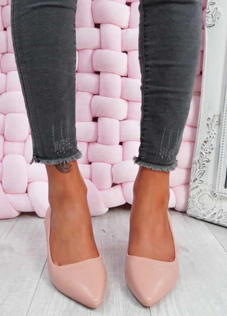 Lydia Pink Slip On Pumps