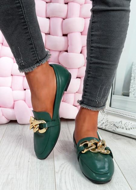 Darcie Green Flat Ballerinas