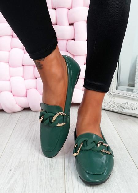 Kimberly Green Flat Ballerinas