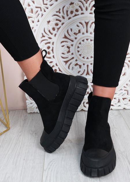 Emilia Black Chelsea Ankle Boots