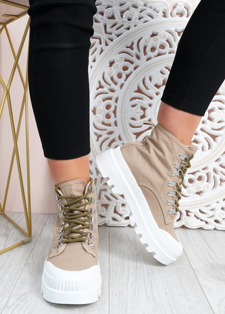 Connie Beige Chunky Trainers
