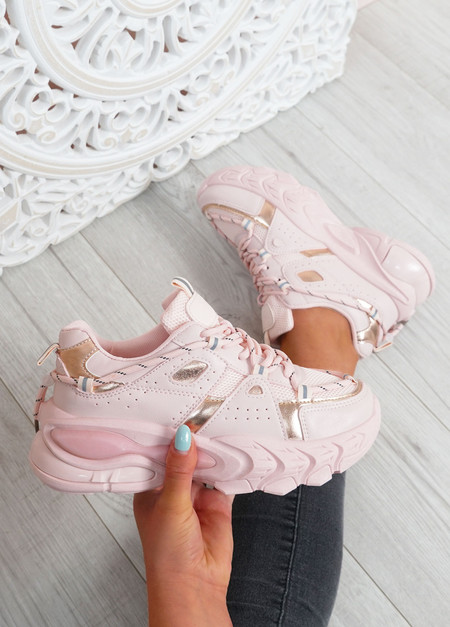 Lucia Pink Chunky Trainers