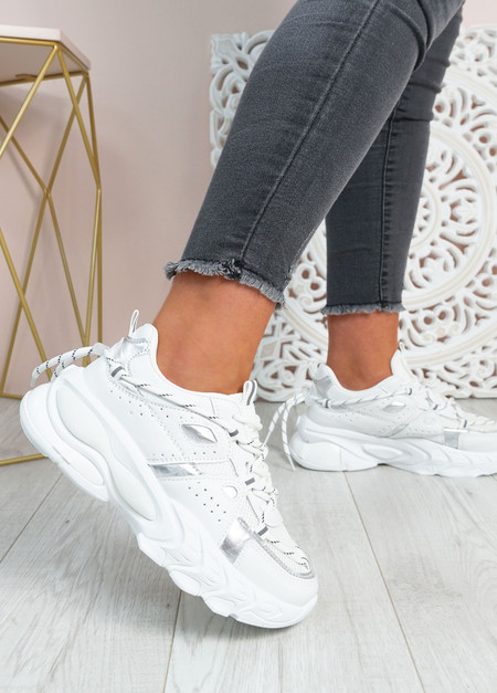 Lucia White Chunky Trainers