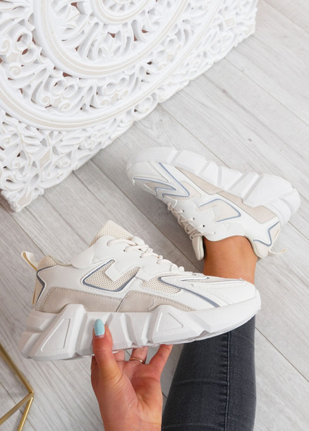 Lilly Beige Chunky Trainers