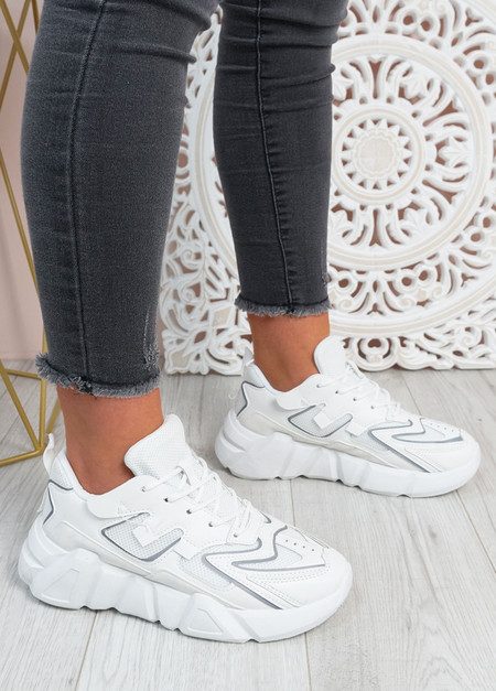 Lilly White Chunky Trainers