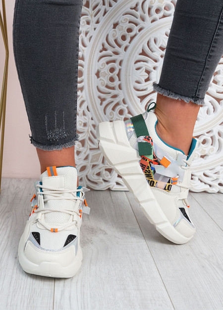 Christa Beige Chunky Trainers