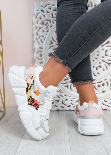 Christa White Chunky Trainers