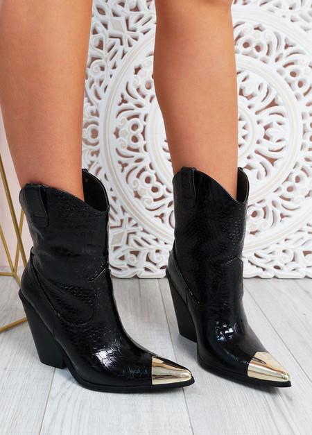 Loretta Black Cowboy Boots