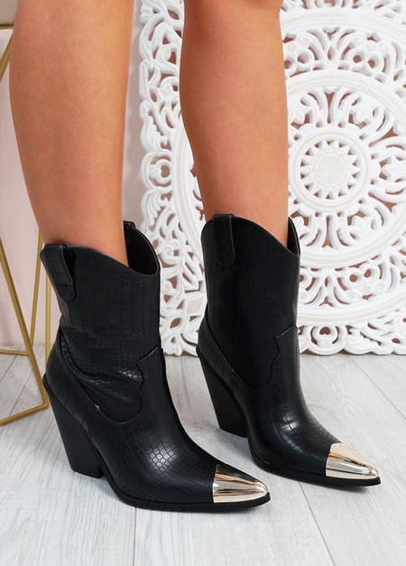 Loretta Stone Grain Cowboy Boots