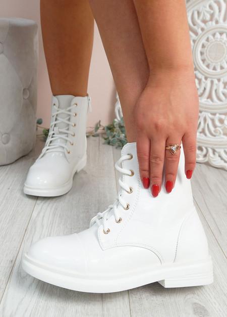 Rebecca White Ankle Boots