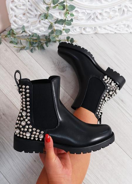 Amber Black Chelsea Boots