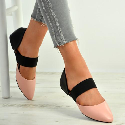 Britney Pink Pointy Ballerina Flats