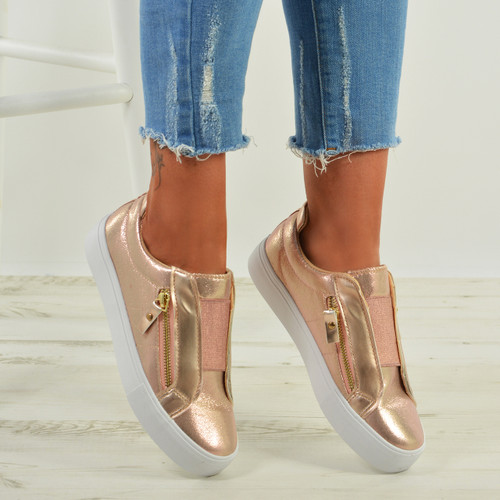 Giovanna Champagne Slip On Sneakers
