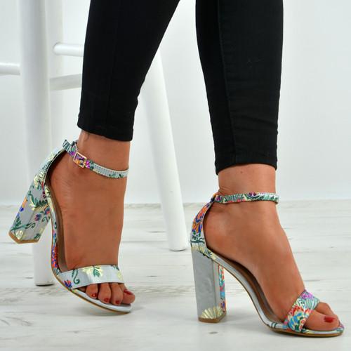Justice Beige Floral Sandals