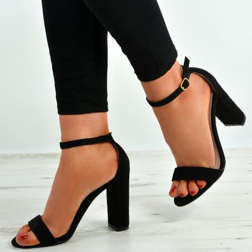 Madison Black Block Heel Sandals