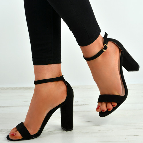 Madison Black Block Heel Sandals