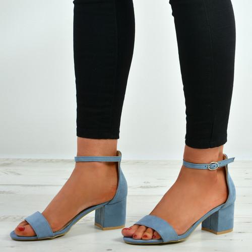 Olivia Blue Ankle Strap Sandals