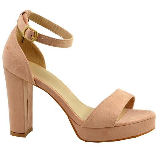 Payton Pink Ankle Strap Sandals