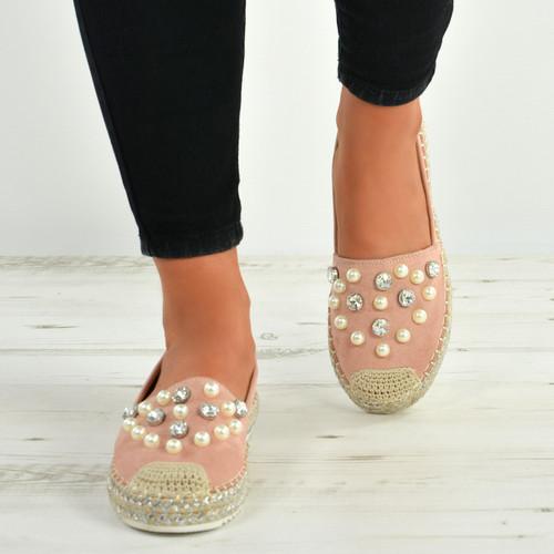 6ed85894ea9 Lilia Pink Pearl Flats
