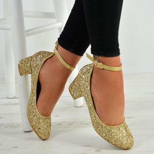 Kamryn Gold Sparkle Pumps