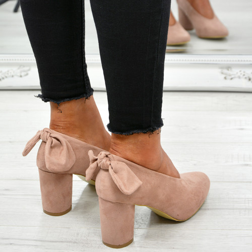 Nikka Pink Bow Pumps