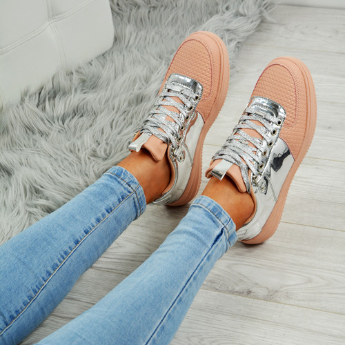 Crystal Pink/Silver Trainers