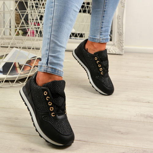 Emmale Black Sneakers Trainers
