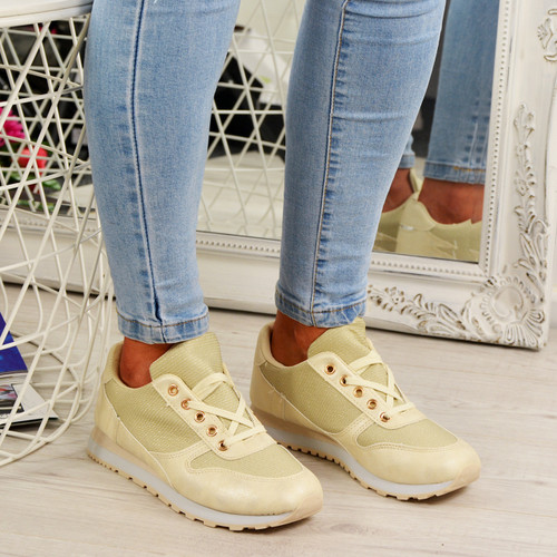 Emmale Beige Sneakers Trainers