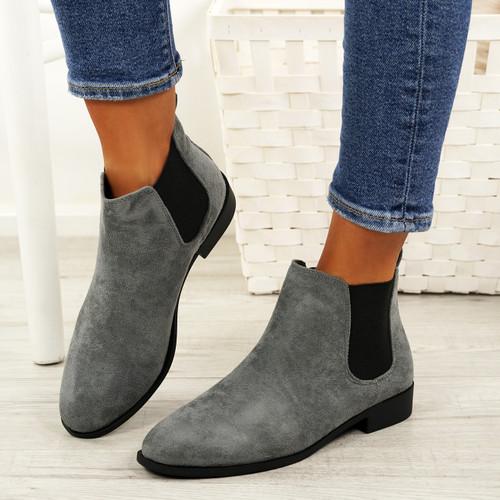 5c3aa3876e47 Ladies Womens Slip On Chelsea Ankle Boots Low Heel Elastic Gusset ...