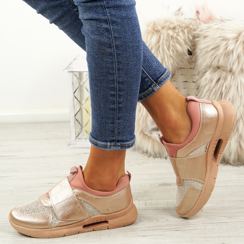 Griley Champagne Shiny Trainers