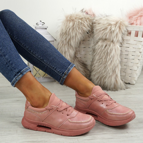 Ainy Pink Glitter Trainers