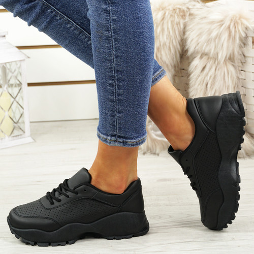 Khaly Black Running Trainers