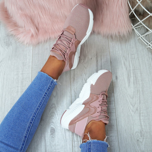 Ruth Pink Mesh Trainers