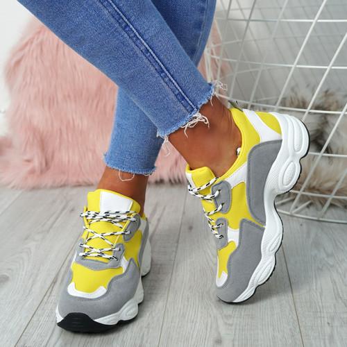 Destiny Yellow Running Trainers