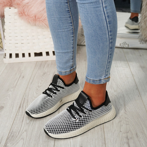 Occo Black Lace Up Trainers
