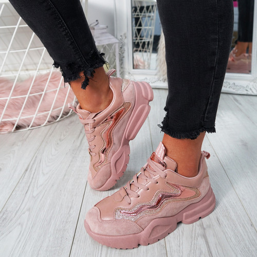 Jull Pink Chunky Trainers