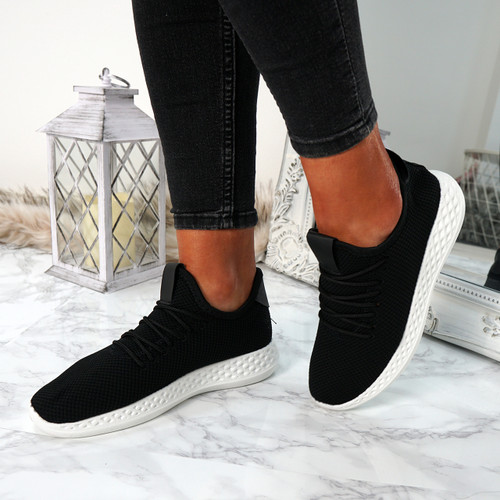 Ligia Black Lace Up Trainers