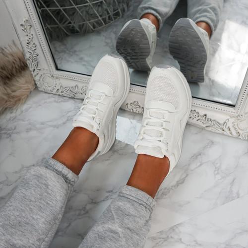 Primo White Fashion Trainers
