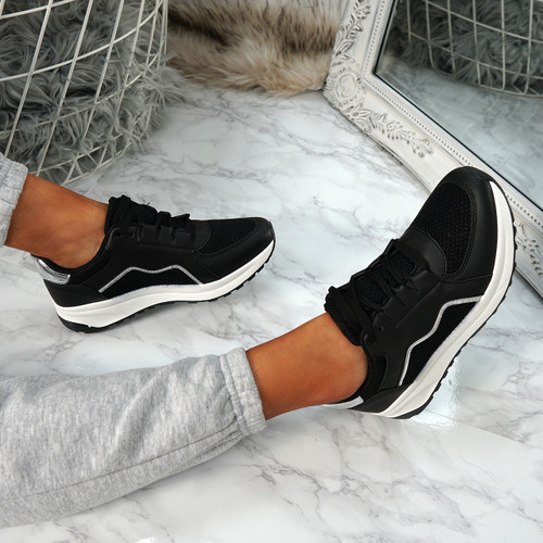 Primo Black Fashion Trainers