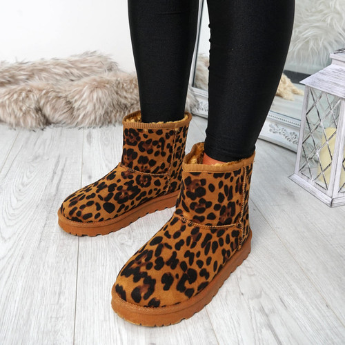 Dallia Leopard Ankle Boots