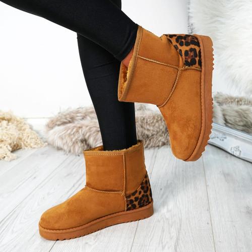 Dallia Camel Ankle Boots