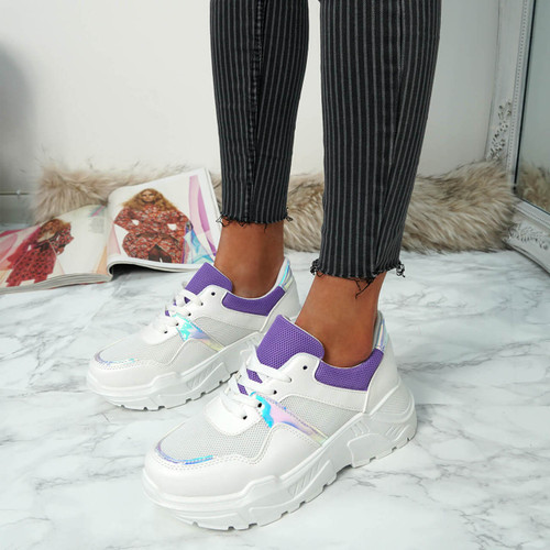 Lima Purple Lace Up Sneakers
