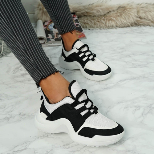 Ciga Black and White Trainers