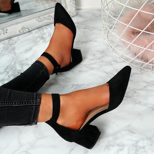 Onia Black Mid Heel Pumps