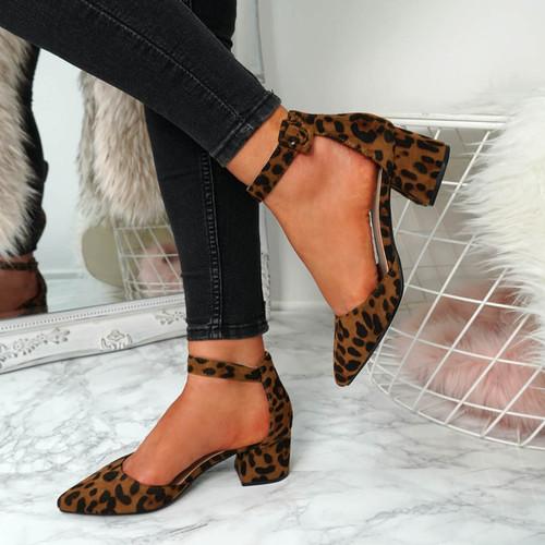 Onia Leopard Mid Heel Pumps